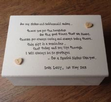 Shabby Personalised Chic Jewellery Box Sister Bridesmaid Maid Of Honour Gift..